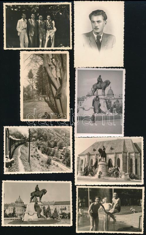 cca 1942 és 1944 között, Kolozsváron készült felvételek, Lányi Ottó hagyatékából 7 db feliratozott, vintage fotó, köztük a fotós arcképe is, 6×8,5 cm