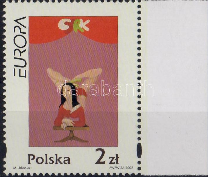 Europe CEPT: circus margin stamp, Europa CEPT: Cirkusz ívszéli bélyeg, Europa CEPT