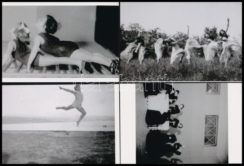 cca 1935 Szentpál Olga (1895-1968) mozgásművészeti iskolájának archívumából 7 db mai nagyítás, 10x15 cm
