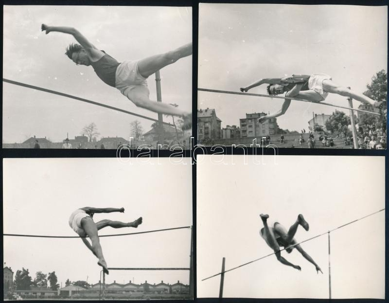 cca 1960 Magasugrók, 4 db vintage fotó, 9x12 cm