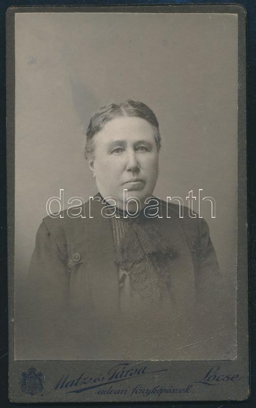 cca 1911 Lőcse, Matz és Társa fényképészeti műtermében készült, keményhátú, vintage fotó, 10,8x6,5 cm