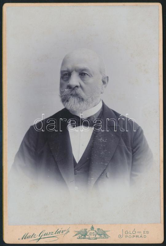 cca 1905 Igló, Matz Gusztáv fényképész műtermében készült, keményhátú, vintage fotó, 15,8x10,5 cm