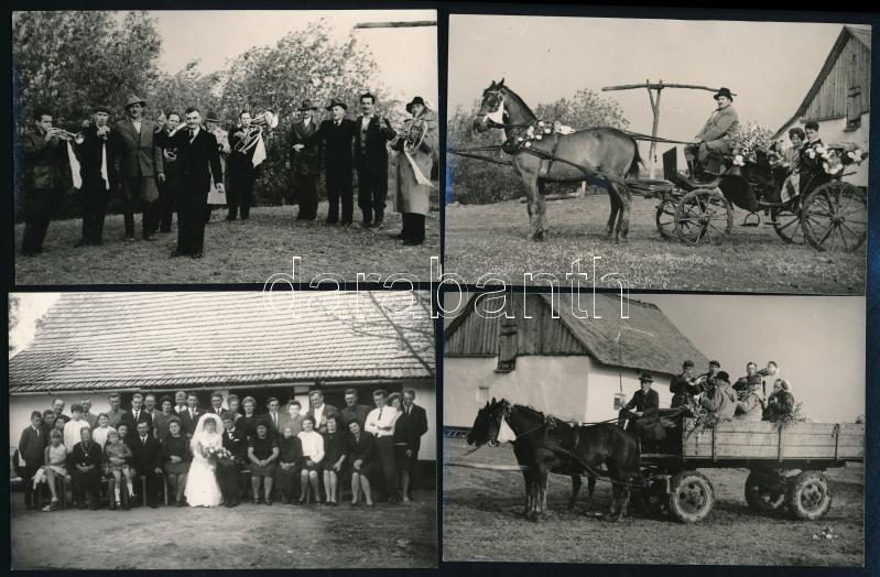 cca 1962 Nagymágocs, Demeter Sándor fényképész által készített, 13 db vintage fotó, néhány pecséttel jelzett, 9x14 cm