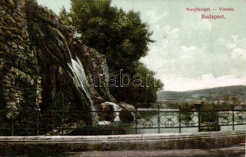 Budapest XIII. Margitsziget vízesés; Divald Károly