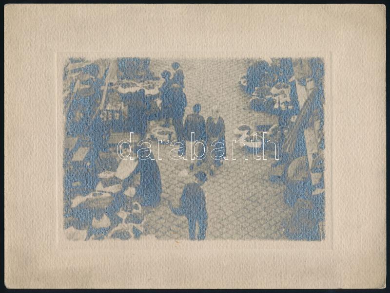 cca 1931 Budapesti piacon, Orphanidesz János (1876-1939) hagyatékából jelzés nélküli vintage fotó, művészfólián keresztül másolva, képméret 11,5x16 cm, papírméret 18x24 cm