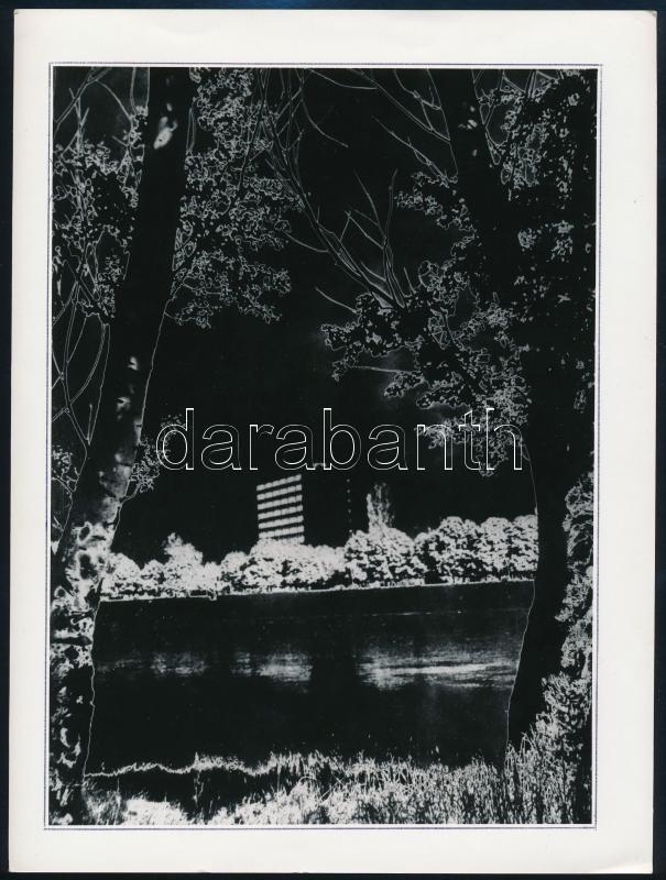 cca 1979 Tatár Tibor szegedi fotóművész ,,Tiszapart
