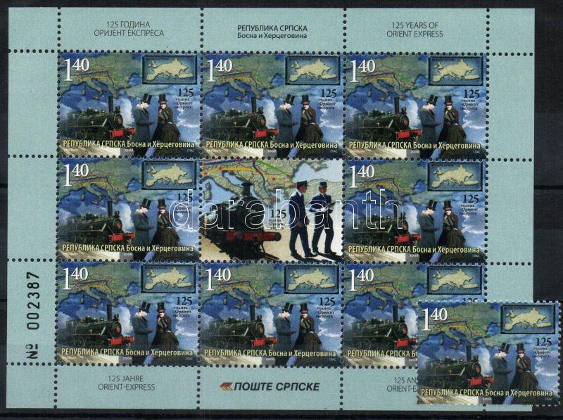 Orient Express stamp+mini sheet, 125 éves az Orient expressz bélyeg + kisív, 125 Jahre Orientexpreß Marke + Kleinbogen