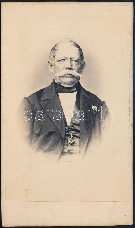 cca 1875 Oppeln, Gebr. Katzbach fényképész műtermében készült keményhátú vintage fotó, 10,1x6 cm