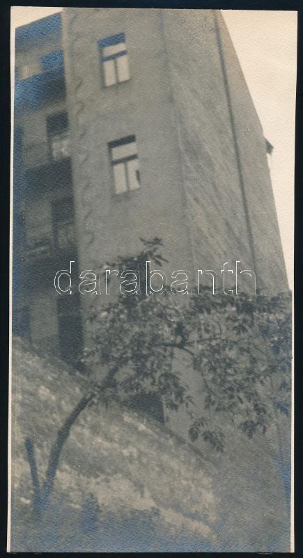 cca 1937 Spitzer László budapesti fotóművész hagyatékából, jelzés nélküli vintage fotó, 21,6x11,4 cm