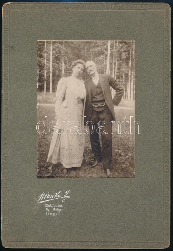 cca 1905 Debrecen, Némethi J. fényképész által készített, keményhátú vintage fotó, 27,2x18,8 cm