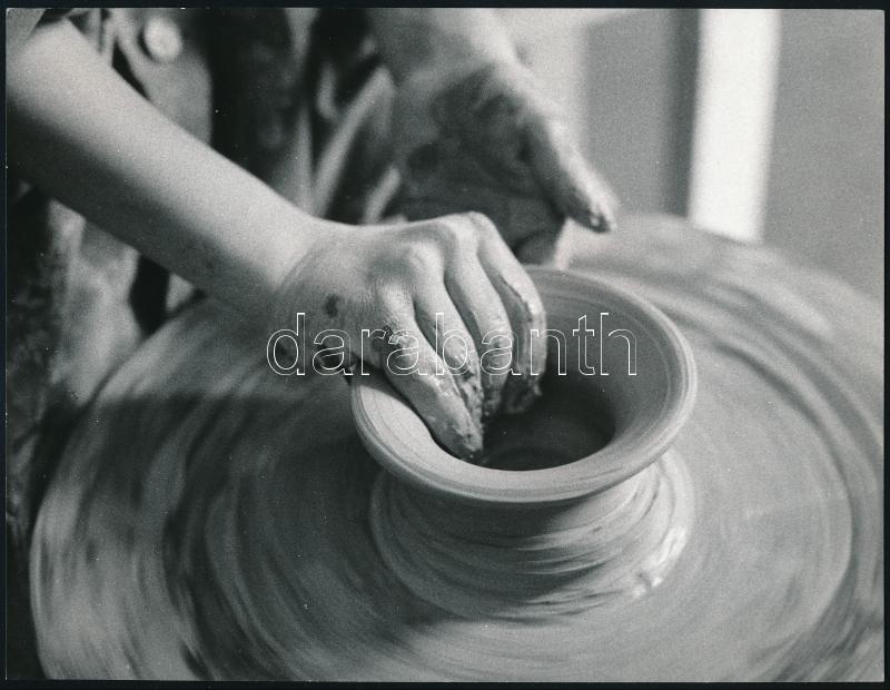 cca 1980 Kresz Albert gödöllői fotográfus pecsétjével ellátott vintage fotó, 18,2x23,8 cm