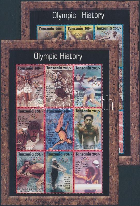 Summer Olympics, Atlanta minisheet set, Nyári olimpia, Atlanta kisívsor