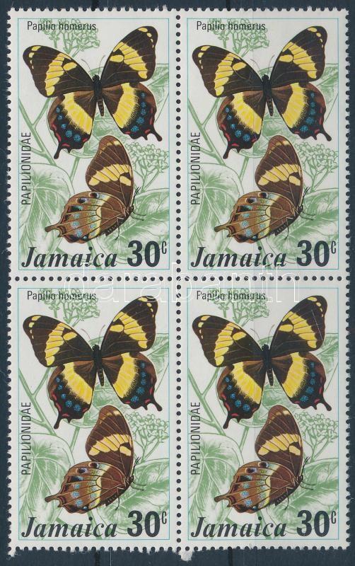 Butterfly set closing value block of 4, Lepkék sor záróérték négyestömb