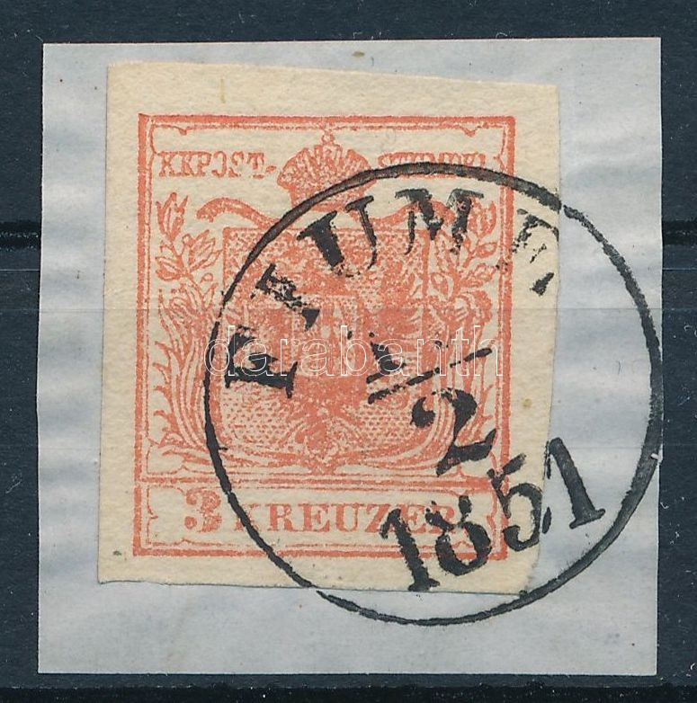 3kr Ia3 lively red, with nice margins