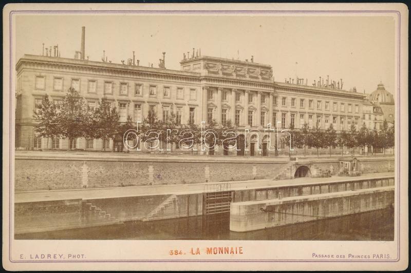 cca 1870 Párizs, C. Crippa pecsétjével jelzett, keményhátú vintage fotó, 10,8x16,2 cm