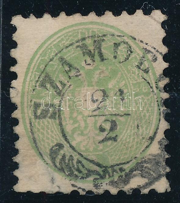 3kr green with watermark (thin paper), 3kr zöld, vízjellel