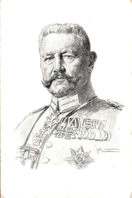 Hindenburg, artist signed