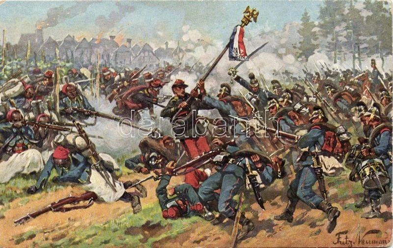 1870 Wörth, Franco-Prussian war s: Fritz Neuman, 1870 Wörth, Francia-Prusszia háború s: Fritz Neuman