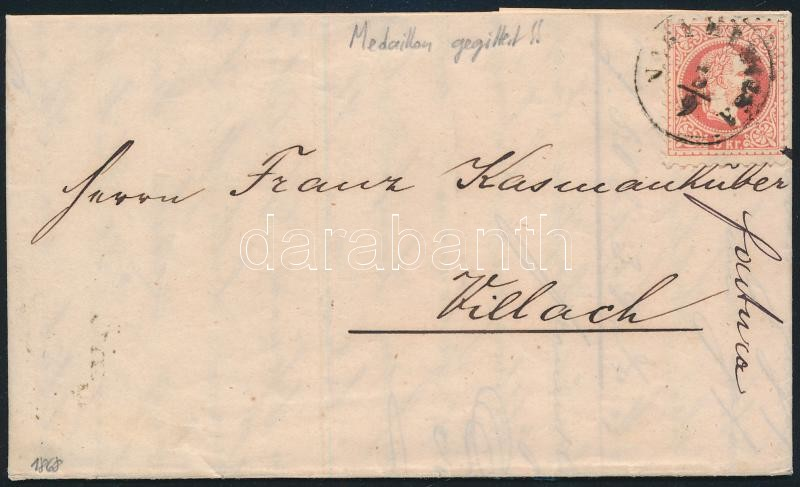 1868  5kr on cover