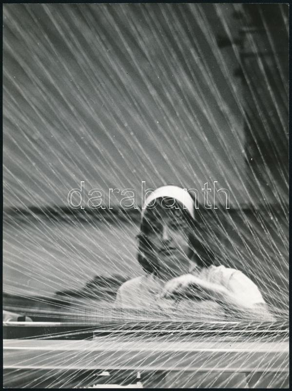 cca 1977 Magyar Alfréd budapesti fotóművész jelzés nélküli vintage fotóművészeti alkotása (Ezer szál), 24x18 cm