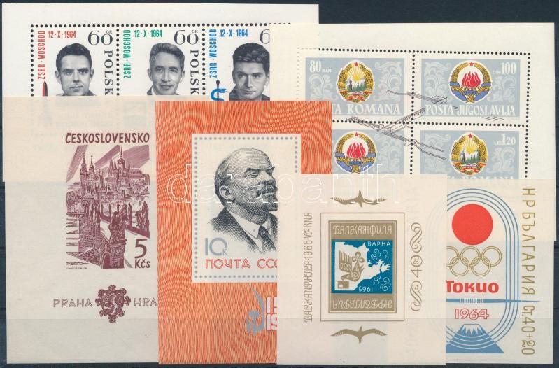 Vegyes külföldi bélyegek 2 stecklapon: 29 klf bélyeg és 9 klf blokk, közte jobb motívumok, 29 different stamps + 9 different blocks