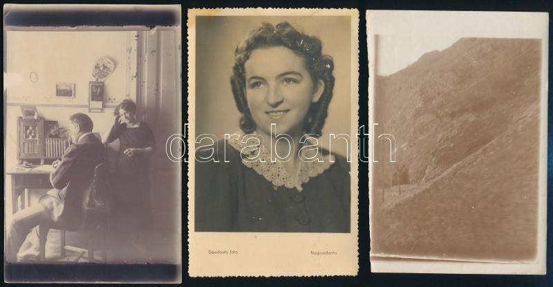 cca 1900 és 1942 között készült, 4 db vintage fotó Erdélyből (Nagyszalonta, Királyhágó, Nagyszeben), 11,6x16,8 cm és 13x9 cm között