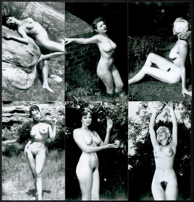 cca 1960 Fekete György (1904-1990) budapesti fényképész hagyatékából 13 db mai nagyítás, szolidan erotikus lányokról, vélhetően reprodukciók, 15x9,6 cm és 12,5x8,5 cm között