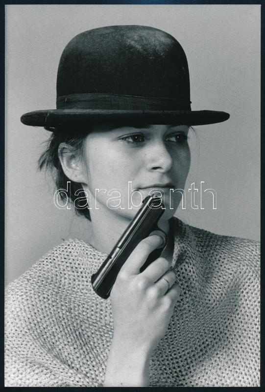 cca 1995 Szabó Gábor feliratozott vintage fotója, 18x12 cm