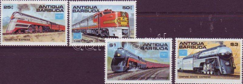 Railway set, Ameripex stamp exhibition, stamp, Vasút sor, Ameripex bélyegkiállítás; bélyeg, Internationale Briefmarkenausstellung AMERIPEX ´86; Stamp