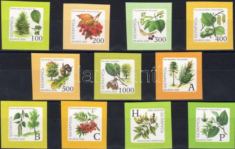 Trees and Crops set, Fák és terméseik sor, Bäume und Sträucher Satz