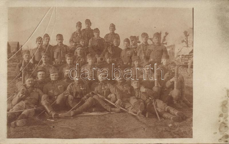 Hungarian military group photo, Magyar katonai csoportkép photo