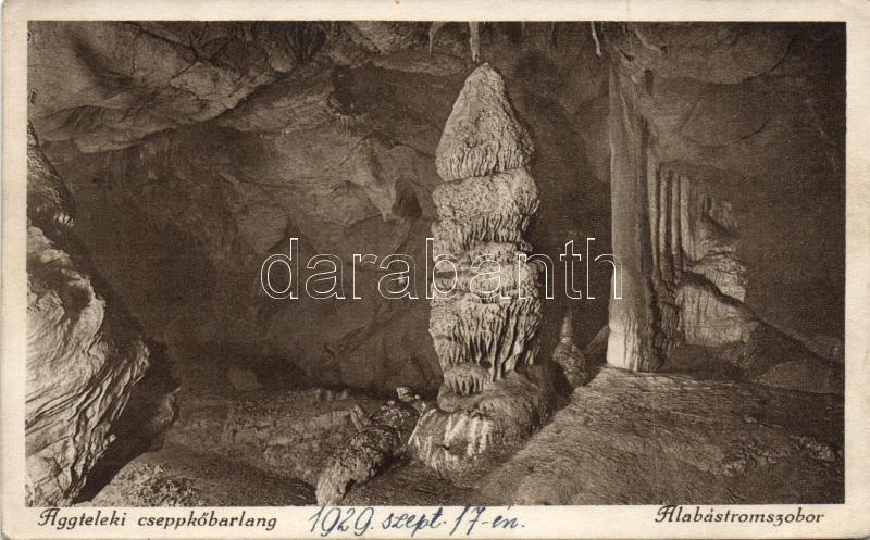 Aggtelek, cseppkőbarlang, Alábastrom szobor