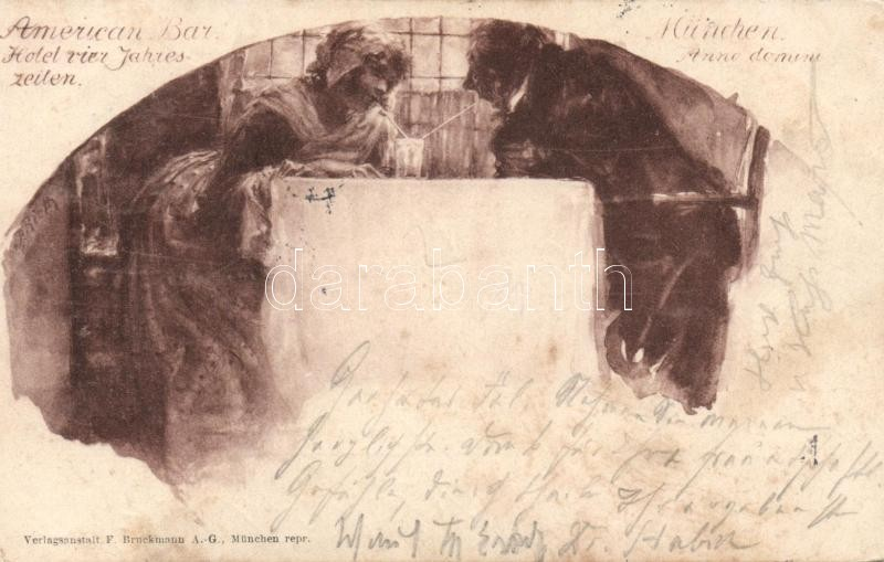 1898 München, American Bar, Hotel vier Jahres-zeiten