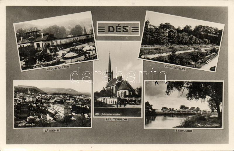 Dej, beach, park, bridge, Dés, Városi strand, park, Szamos híd