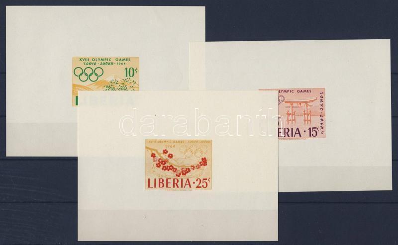 Tokyo olympics set in imperforated block form Tokiói olimpia sor vágott blokkformában