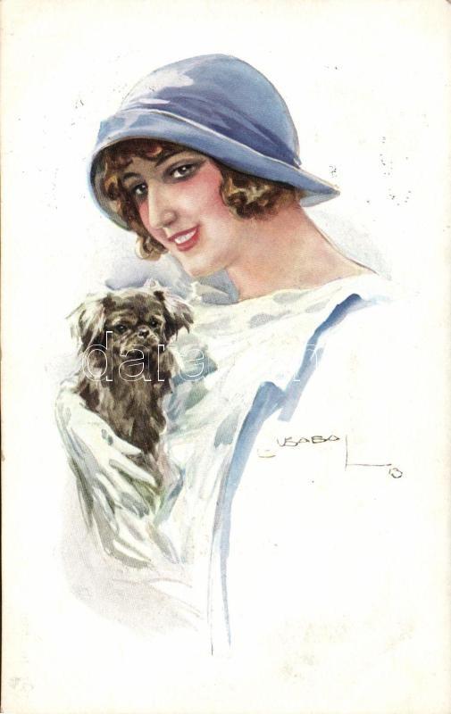 Lady with dog, Nr. 15329. s: Usabal, Hölgy kutyával Nr. 15329. s: Usabal