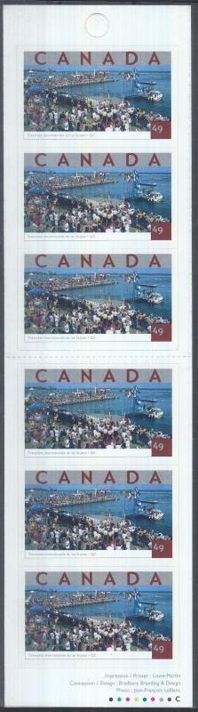 Swimming across the lake St. Jean stamp booklet, A Szt. Jean-tó átúszása bélyegfüzet, Durchquerung des Lac Saint-Jean Markenheftchen