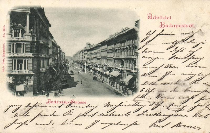 1898 Budapest VI. Andrássy utca, gyógyszertár