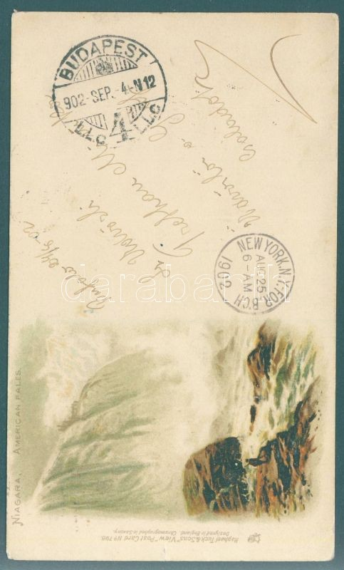 Niagara, American Fales waterfall; Raphael Tuck & Sons View Postcard No. 798. litho
