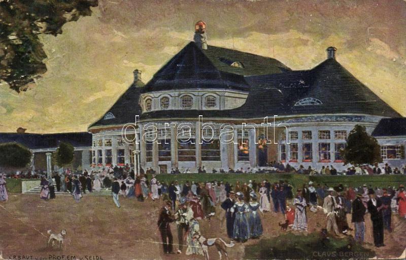 1908 München, Amtliche Ausstellung, Haupt Restaurant / exhibition, restaurant s: Claus Bergen