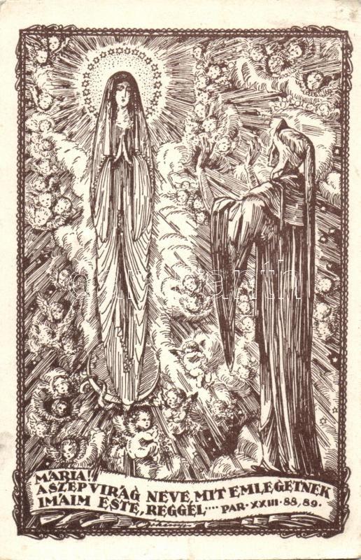 Par. XXIII. 88,89 vallási illusztráció s: Örkényi István