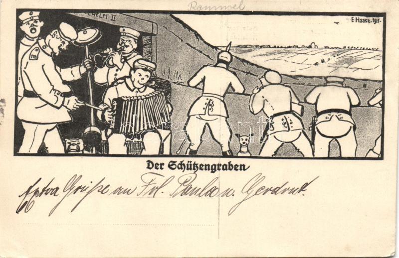 Der Schützengraben, military ban, humour s: E. Haase, Der Schützengraben, katonazenekar, humor s: E. Haase