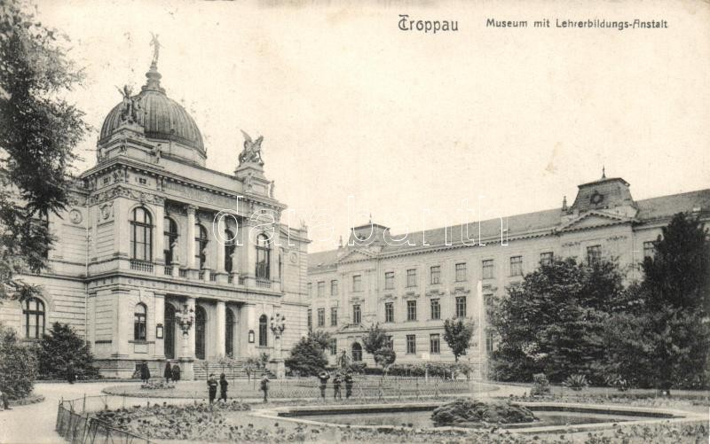 Opava, Troppau; Museum, Lehrerbildungs-Anstalt / teacher trainings institute