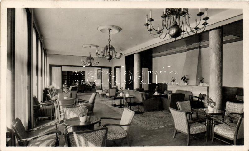 Galyatető hotel, drawing room, Galyatető Nagyszálló társalgó
