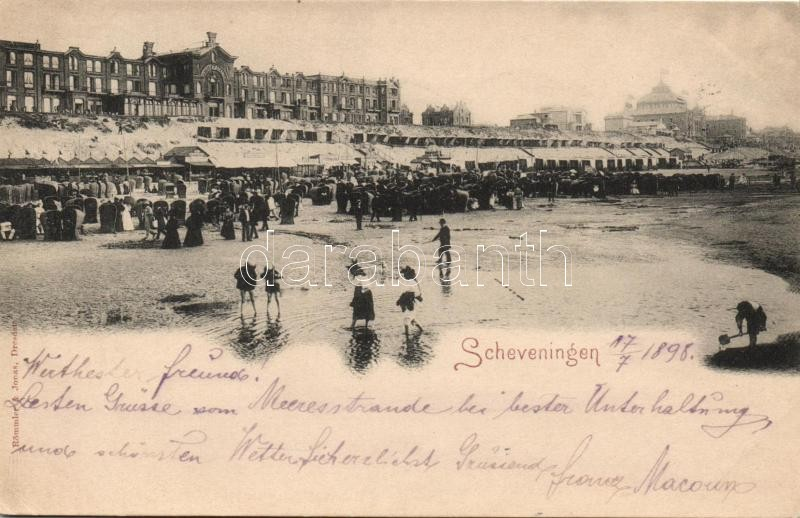 1898 The Hague, Scheveningen, beach, hotel