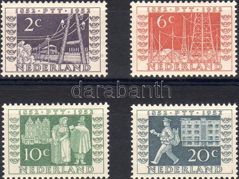 Centenary of dutch stamp and telegraph office set, 100 éves a holland bélyeg és távirda sor, 100 Jahre niederländische Briefmarken und Reichstelegraphen Satz