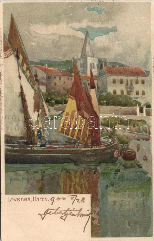 Lovrana, Port; litho s: Raoul Frank