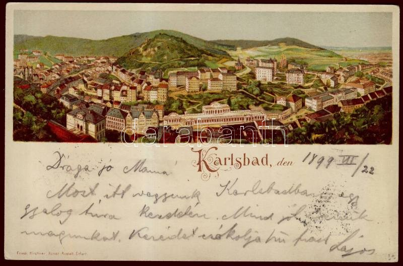 1899 Karlovy Vary, Karlsbad; litho