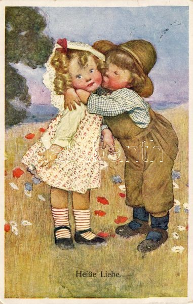 Heisse Liebe / Forró szerelem, B.K.W.I. 798-4., Heisse Liebe / Love, B.K.W.I. 798-4.