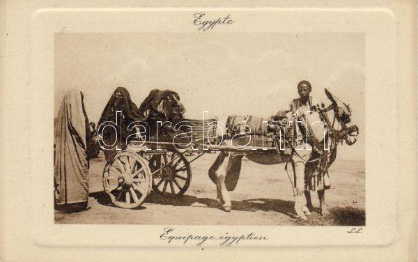 Egyiptomiak, szamaras szekér, Egyptians, donkey cart
